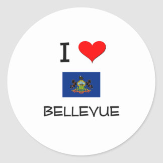 Amo Bellevue Pennsylvania Pegatinas Redondas