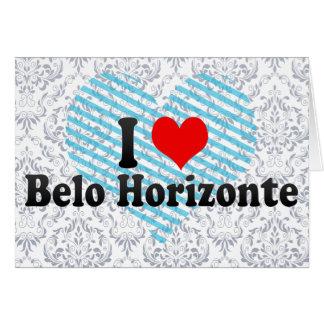 Amo Belo Horizonte el Brasil Felicitación