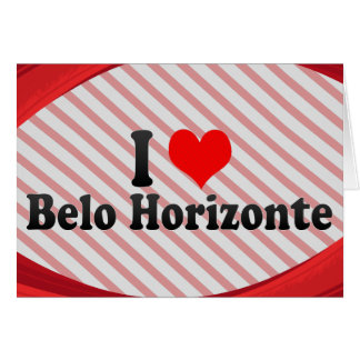 Amo Belo Horizonte, el Brasil Tarjeta Pequeña