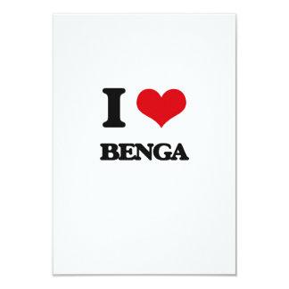 """Amo BENGA Invitación 3.5"""" X 5"""""""