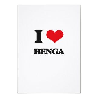 """Amo BENGA Invitación 5"""" X 7"""""""