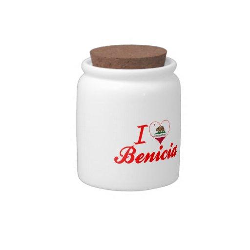 Amo Benicia, California Plato Para Caramelo