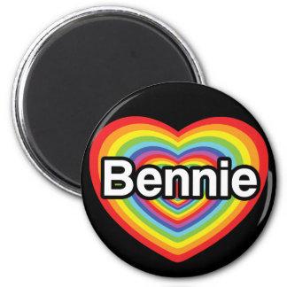 Amo Bennie: corazón del arco iris Imán Redondo 5 Cm