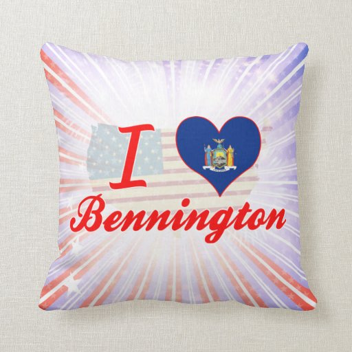 Amo Bennington, Nueva York Cojines