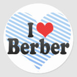 Amo Berber Pegatinas Redondas