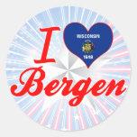 Amo Bergen, Wisconsin Pegatinas