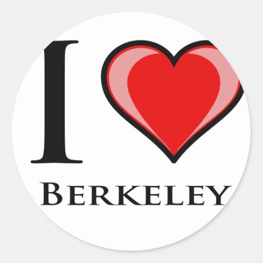 Amo Berkeley Pegatina Redonda