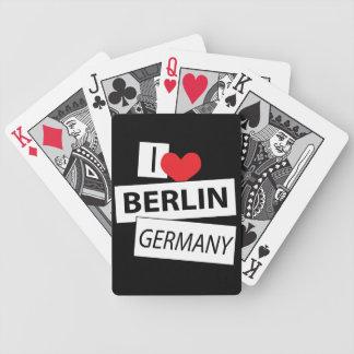 Amo Berlín Alemania Baraja De Cartas Bicycle