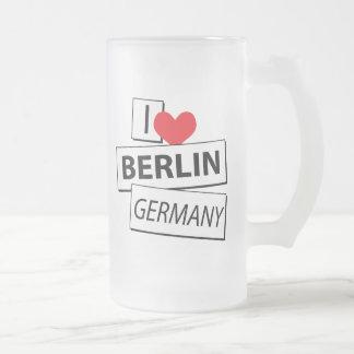 Amo Berlín Alemania Jarra De Cerveza Esmerilada