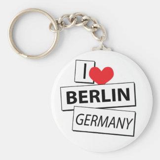 Amo Berlín Alemania Llavero Redondo Tipo Pin