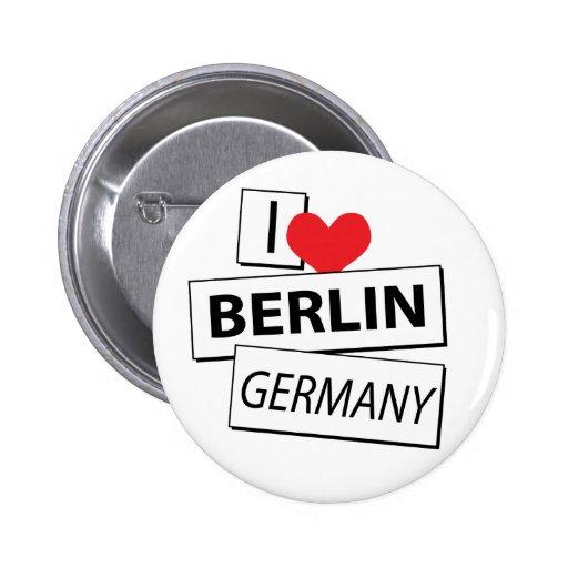 Amo Berlín Alemania Pin Redondo De 2 Pulgadas