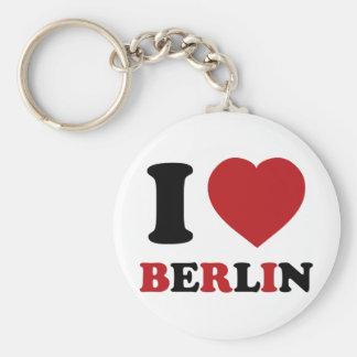 Amo Berlín Llavero Redondo Tipo Pin
