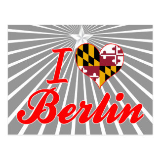 Amo Berlín, Maryland Tarjeta Postal