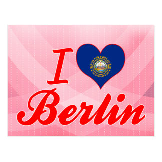 Amo Berlín, New Hampshire Tarjetas Postales