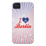 Amo Berlín, Nueva York Case-Mate iPhone 4 Funda