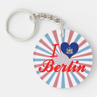 Amo Berlín, Nueva York Llavero Redondo Acrílico A Una Cara