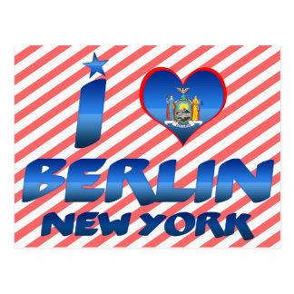 Amo Berlín, Nueva York Tarjetas Postales