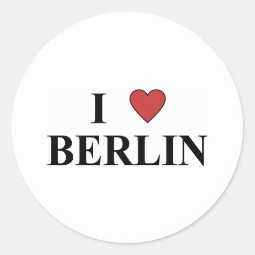 Amo Berlín Pegatina Redonda