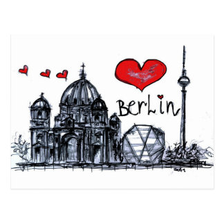 Amo Berlín Tarjeta Postal