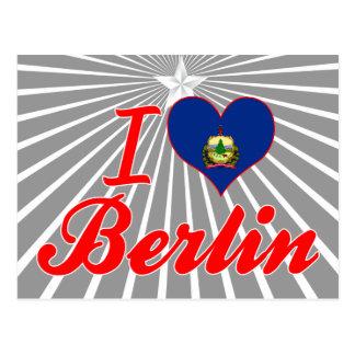 Amo Berlín, Vermont Tarjeta Postal