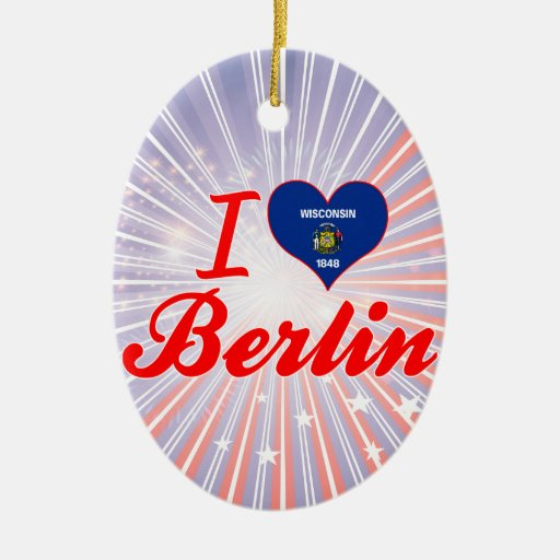 Amo Berlín, Wisconsin Adorno Ovalado De Cerámica