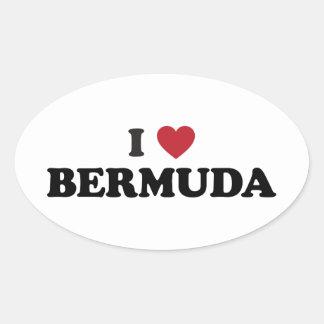 Amo Bermudas Colcomanias Ovaladas Personalizadas