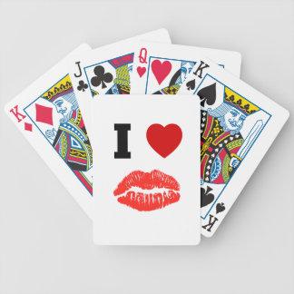 Amo besos de los labios barajas de cartas