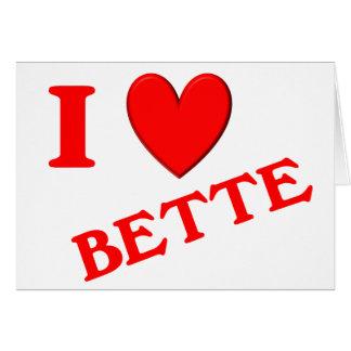 Amo Bette Tarjetas