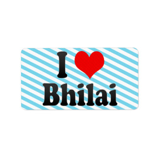 Amo Bhilai, la India. Mera Pyar Bhilai, la India Etiqueta De Dirección
