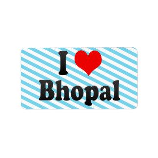 Amo Bhopal, la India. Mera Pyar Bhopal, la India Etiqueta De Dirección