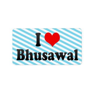 Amo Bhusawal, la India. Mera Pyar Bhusawal, la Ind Etiquetas De Dirección