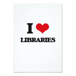 Amo bibliotecas invitación 8,9 x 12,7 cm