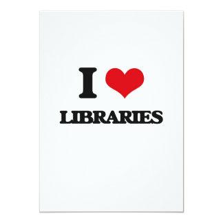 Amo bibliotecas invitación 12,7 x 17,8 cm