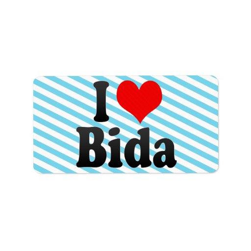 Amo Bida, Nigeria Etiqueta De Dirección