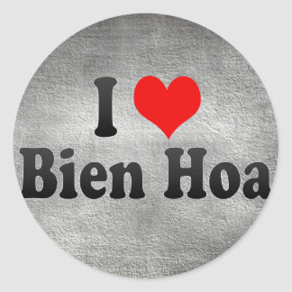 Amo Bien Hoa Vietnam Pegatinas Redondas