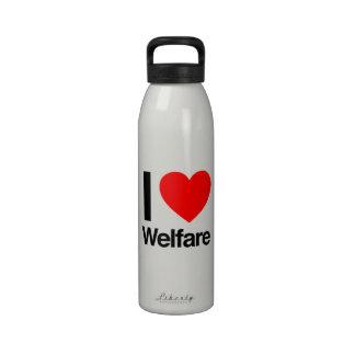 amo bienestar botellas de agua reutilizables