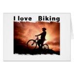 Amo Biking Gnarly Felicitación