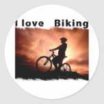 Amo Biking Gnarly Pegatinas