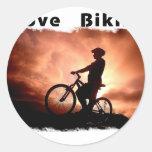 Amo Biking Gnarly Pegatinas Redondas