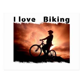 Amo Biking Gnarly Postales