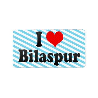 Amo Bilaspur, la India. Mera Pyar Bilaspur, la Ind Etiquetas De Dirección