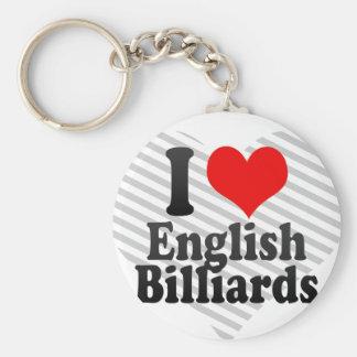 Amo billares ingleses llaveros personalizados