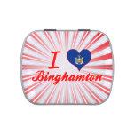 Amo Binghamton, Nueva York Jarrones De Dulces