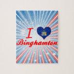 Amo Binghamton, Nueva York Puzzle Con Fotos