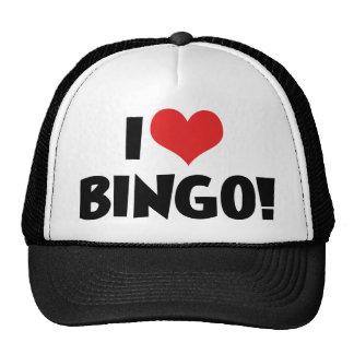 Amo bingo gorros