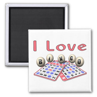 Amo bingo imán cuadrado