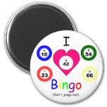 Amo bingo, no juzgo imán redondo 5 cm