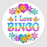 Amo bingo pegatina redonda