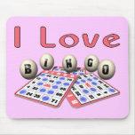 Amo bingo tapete de ratón