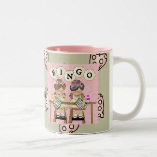 Amo bingo taza de dos tonos